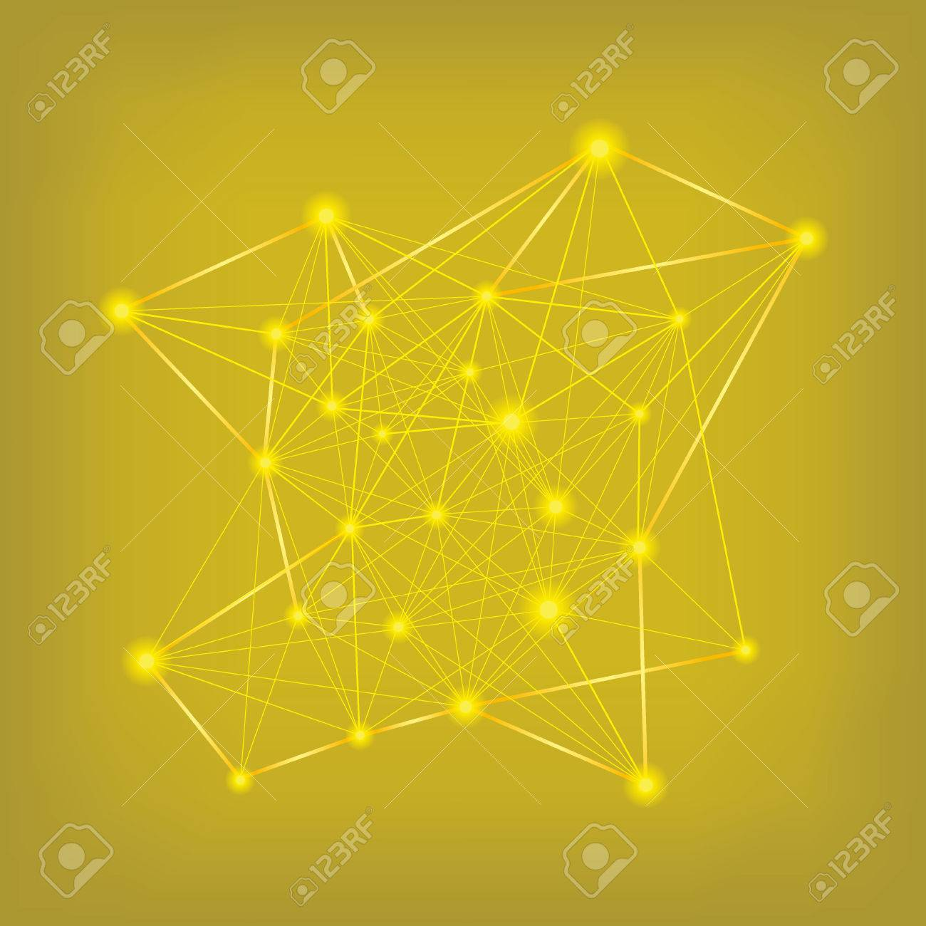 Abstract yellow data connections - 39809753