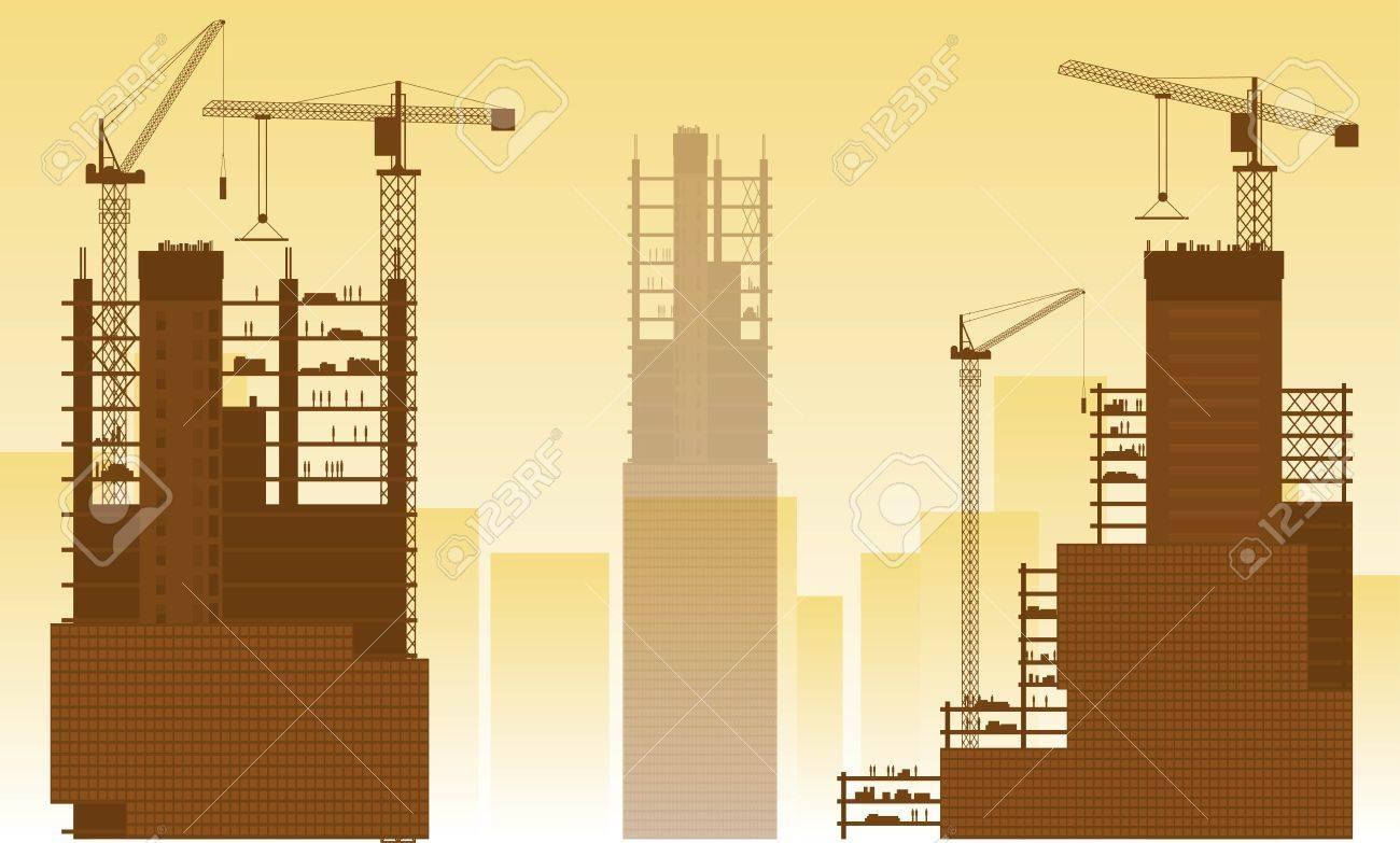 Construction site, building houses - 42064240