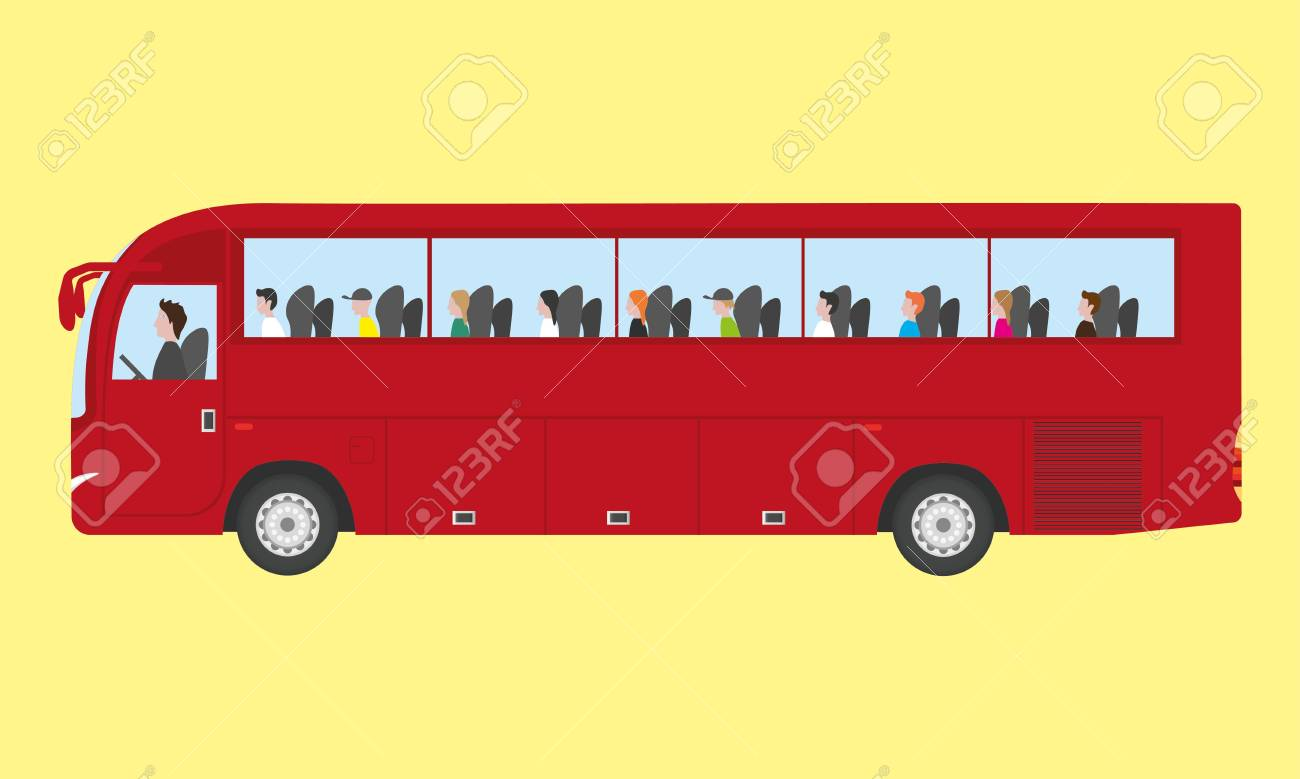 Touristic bus with kids - 42150847