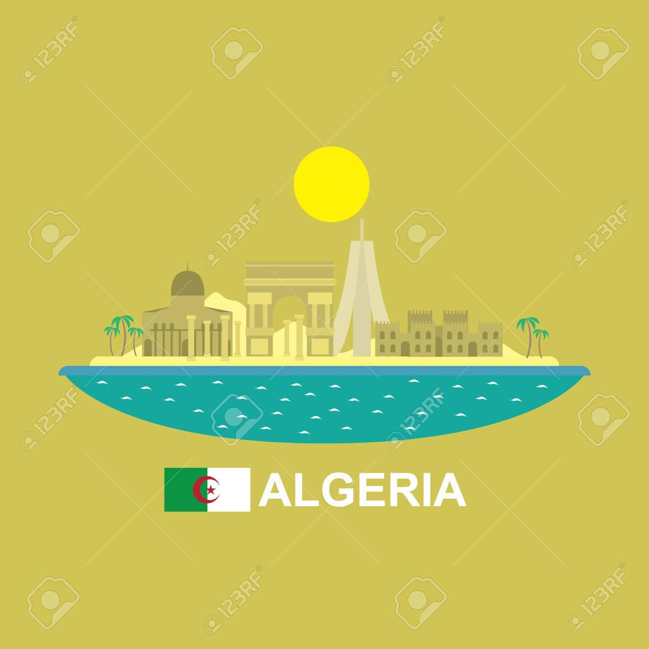 Algeria famous buildings infographic - 47948748