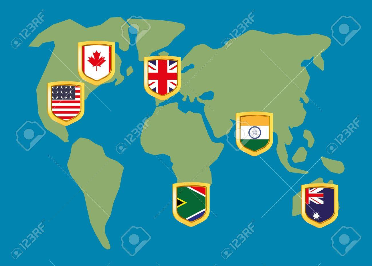 English speaking countries on the map ilustraciones vectoriales english speaking countries on the map foto de archivo 57406386 gumiabroncs Choice Image