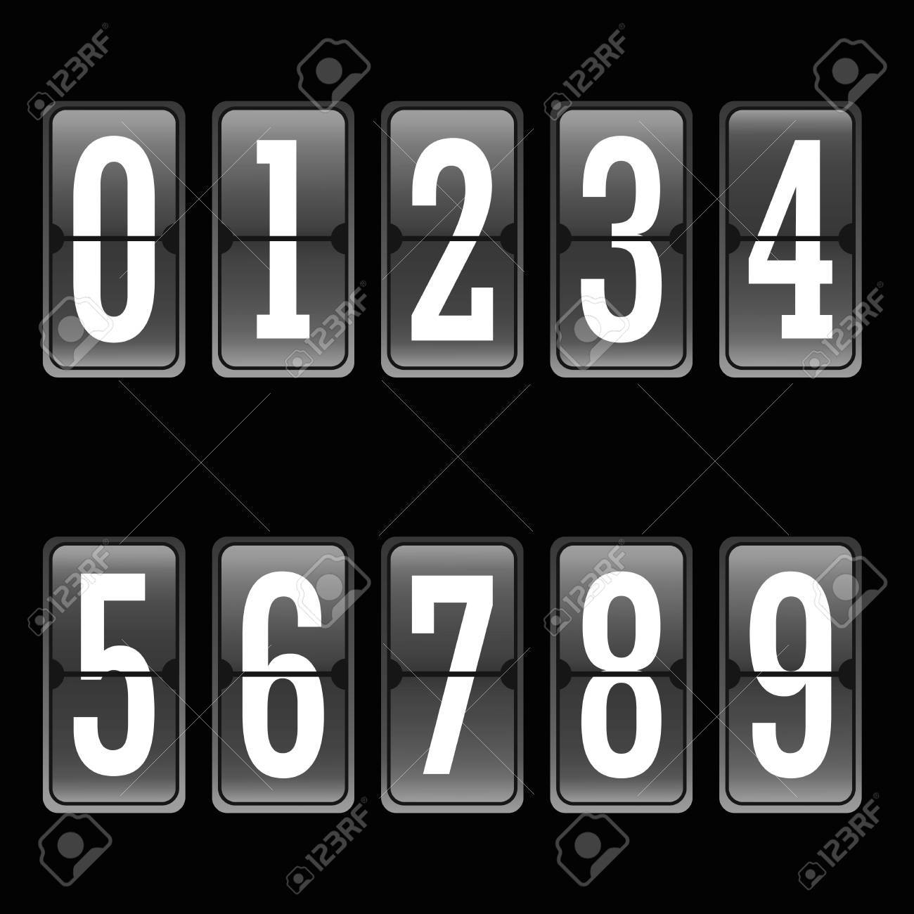 Football soccer scoreboard numbers set from to 9 - 60719234