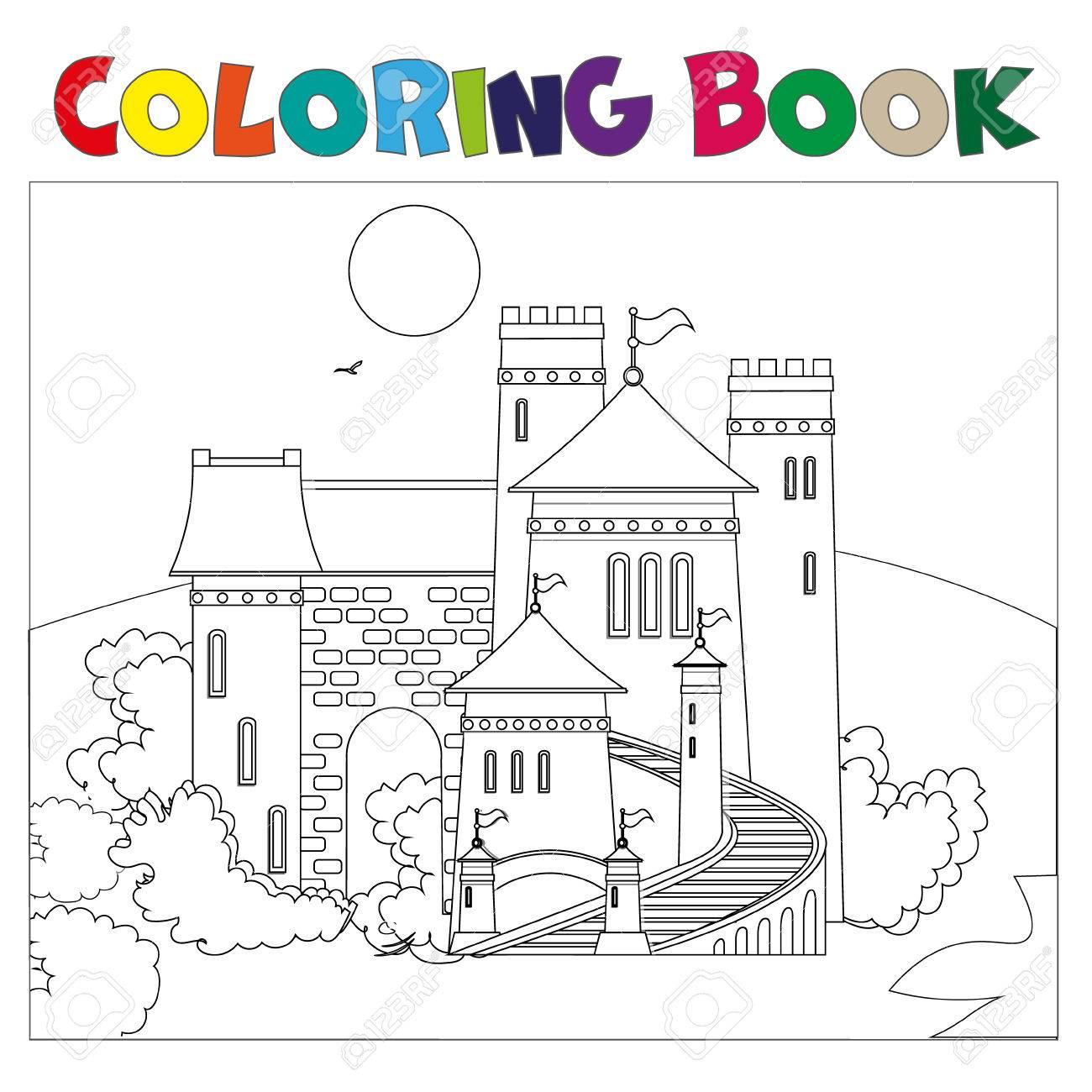 Moderno Libro Para Colorear Castillo Molde - Dibujos Para Colorear ...