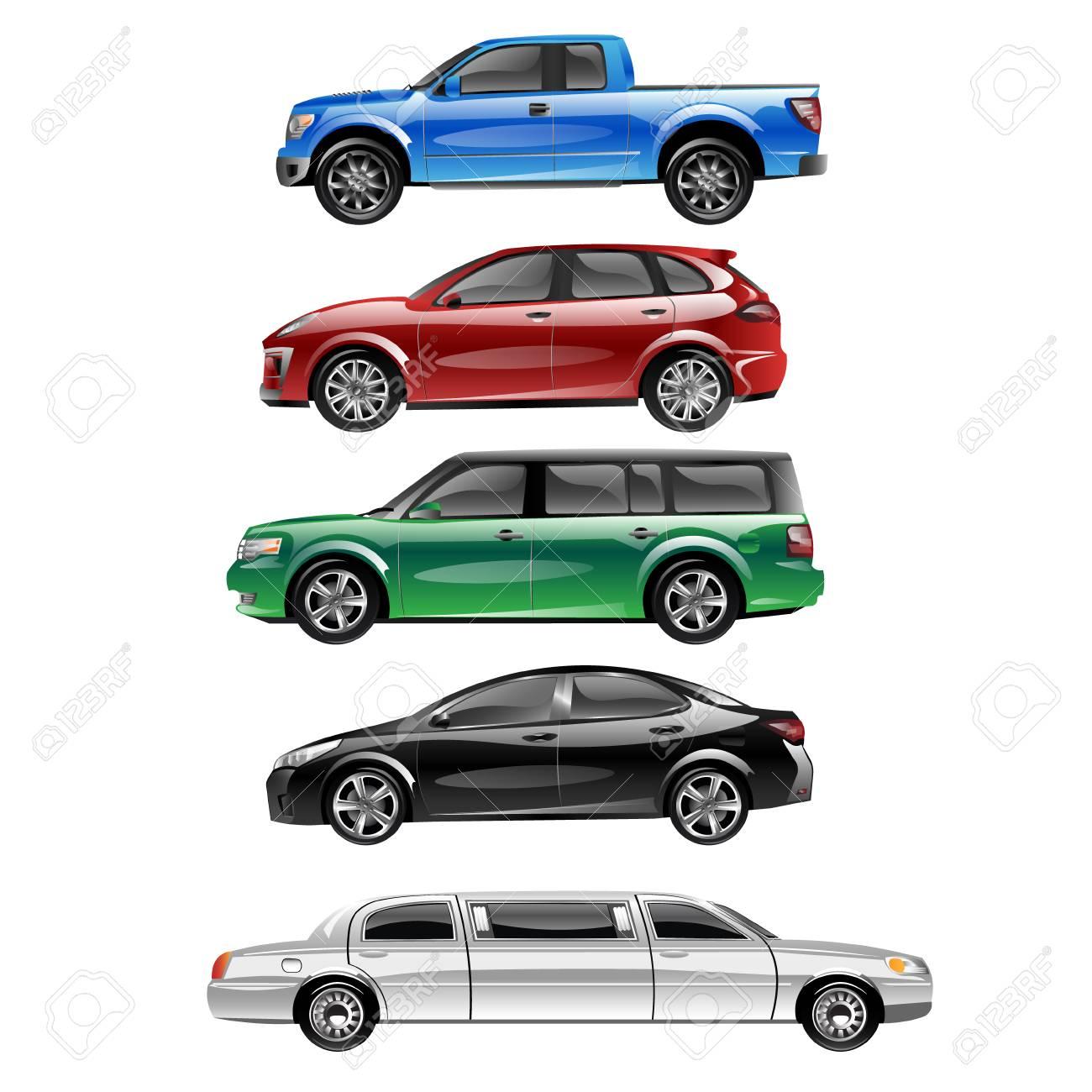 Different passenger car vector. - 82950215