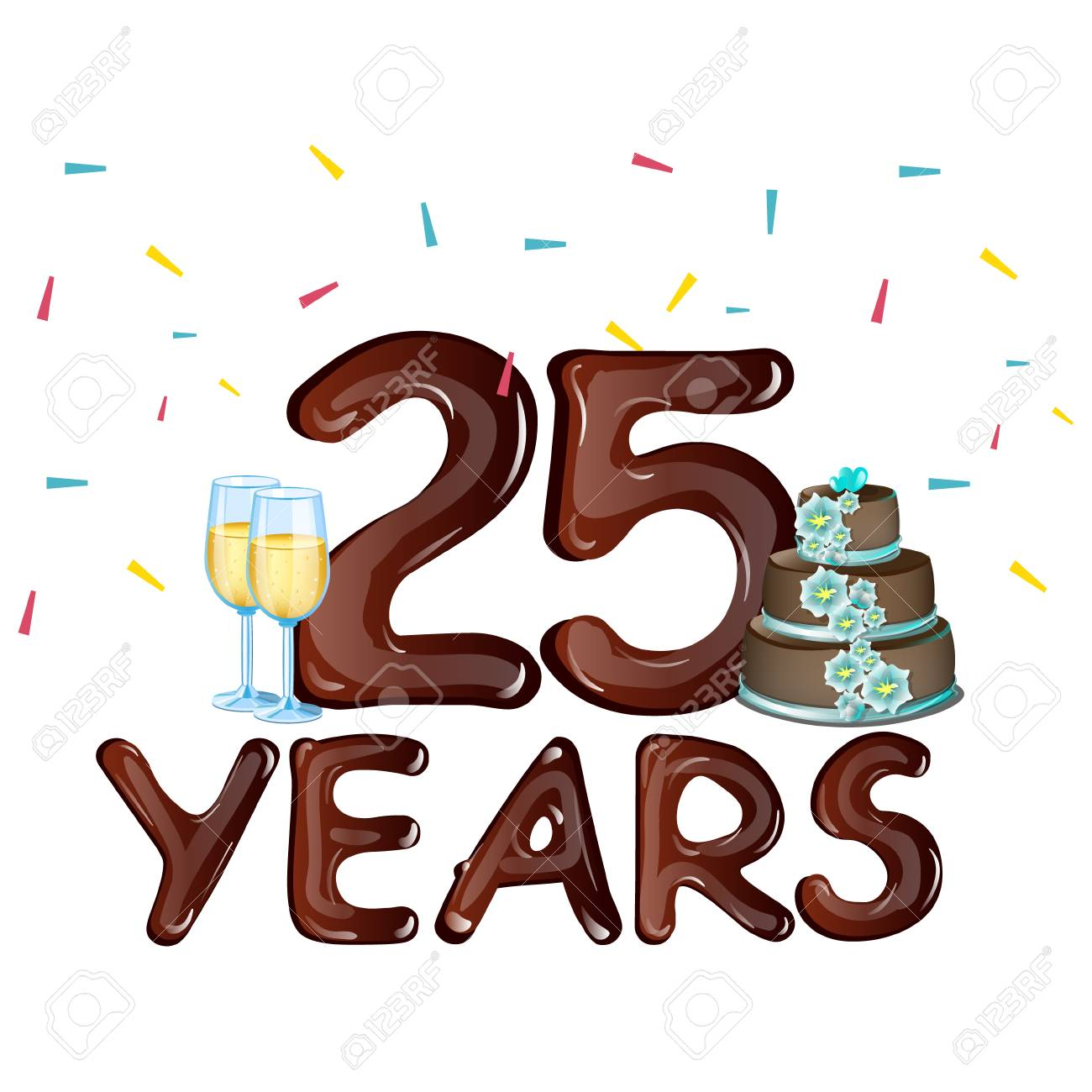 25 years anniversary celebration card royalty free cliparts vectors