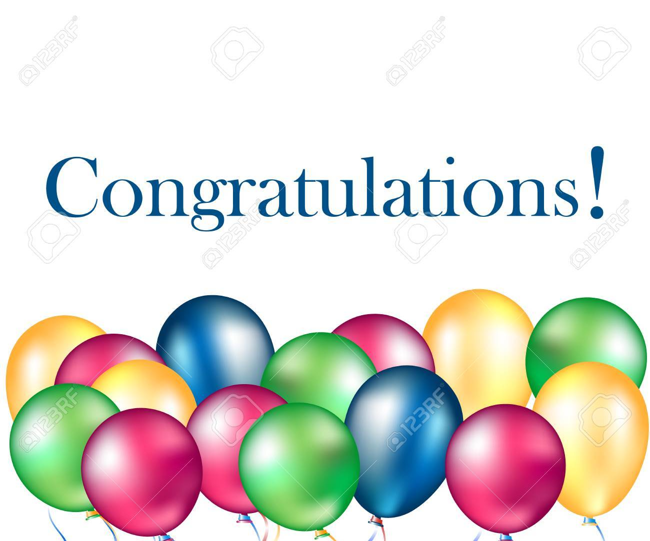 Different colorful balloons with text congratulations - 84948282