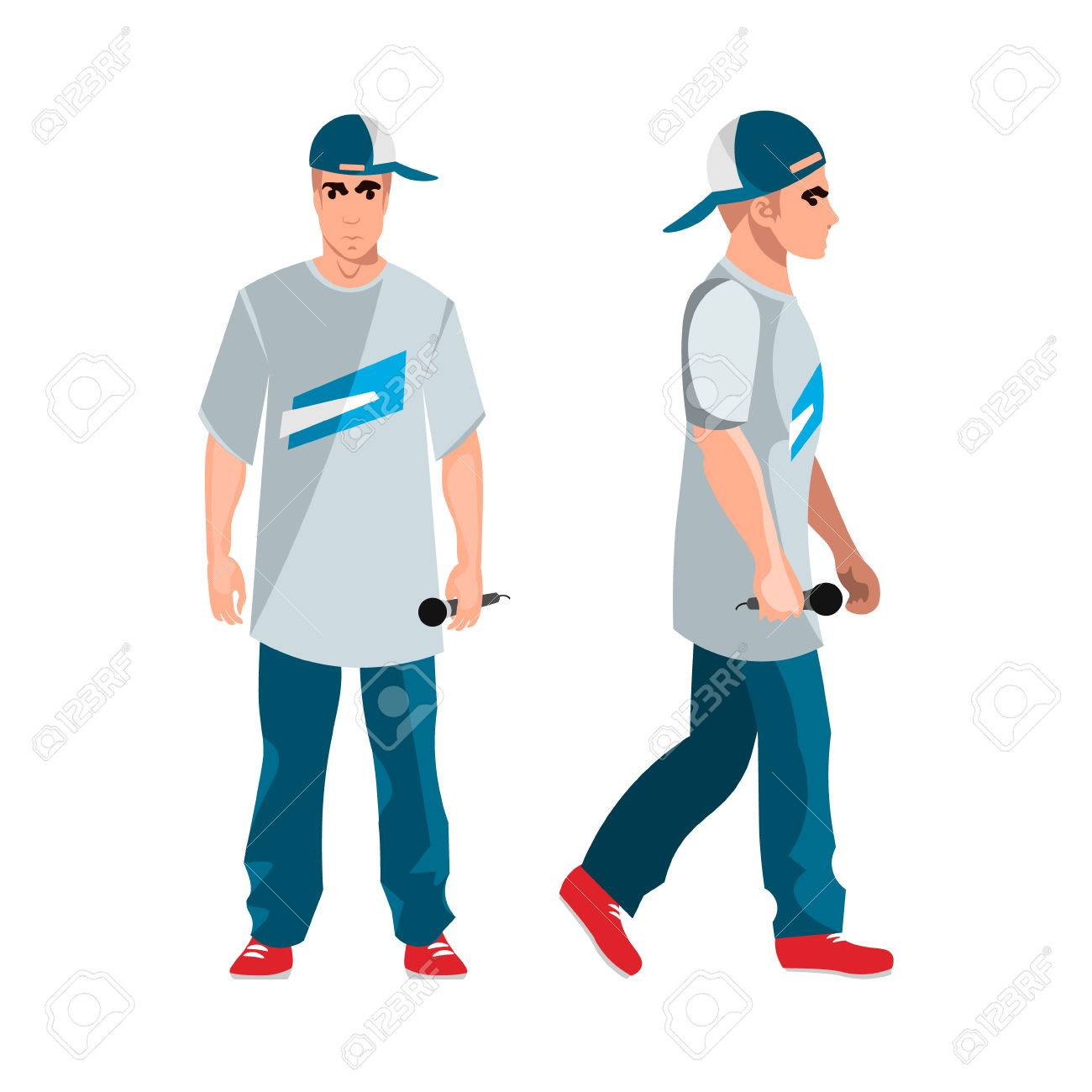 f406db61ff7 Rapper Man Dressed In Rappers Style Clothing Royalty Free Cliparts ...