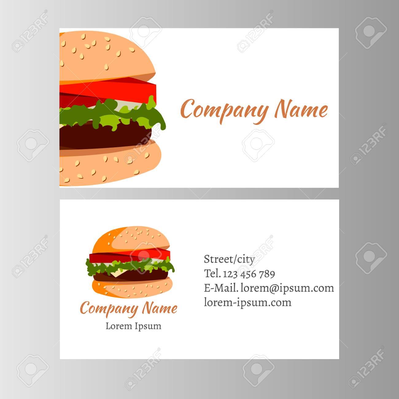 Burger Carte De Visite Modele Pour Boutique Banque DImages Et