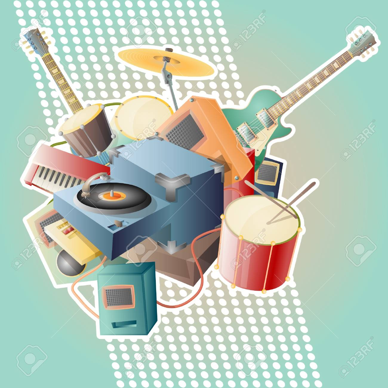 music abstract vector illustration - 14079116