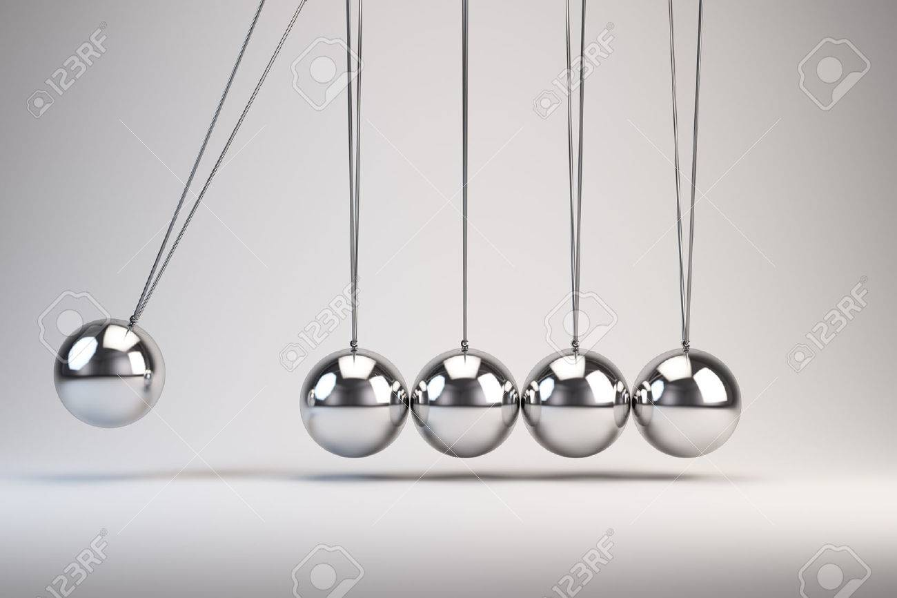 Balancing Balls Newton's Cradle Stock Photo - 51246669