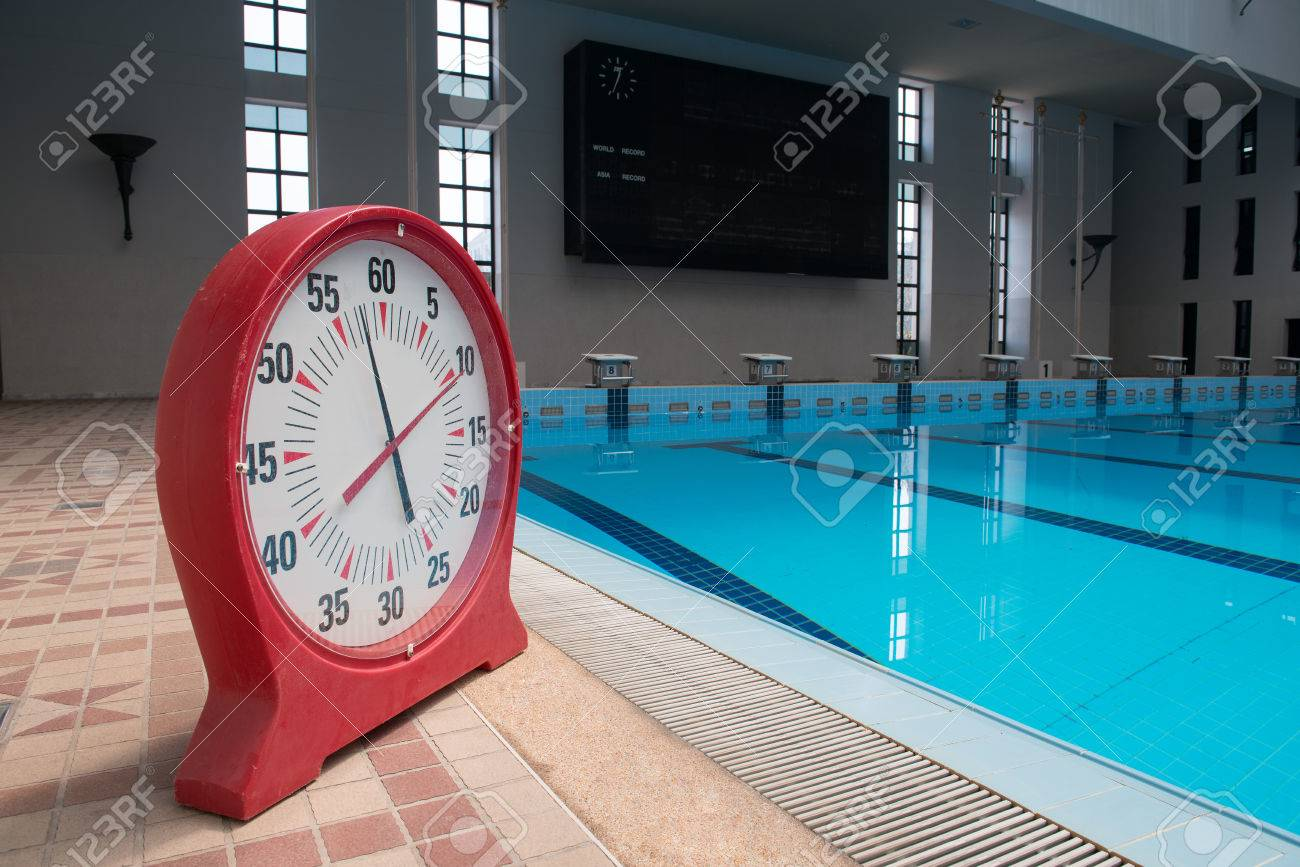 Timer clock in a swimming pool