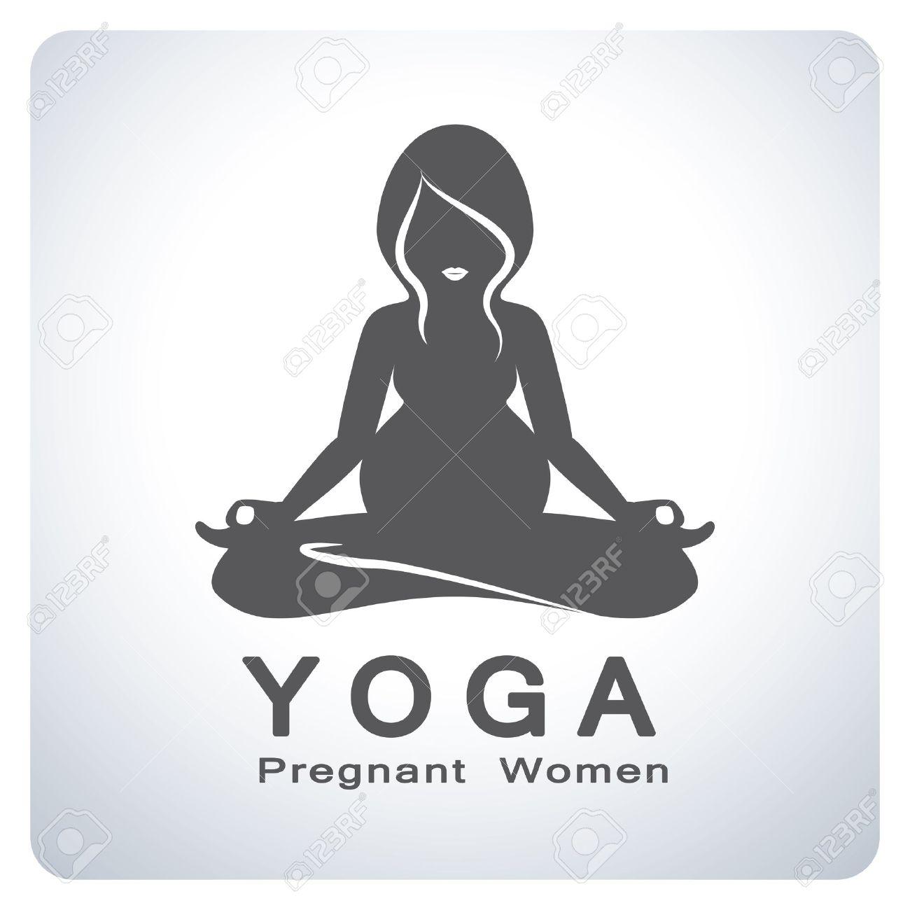 Mom Yoga For Pregnant Women Symbol Icon Symbol Design Vector