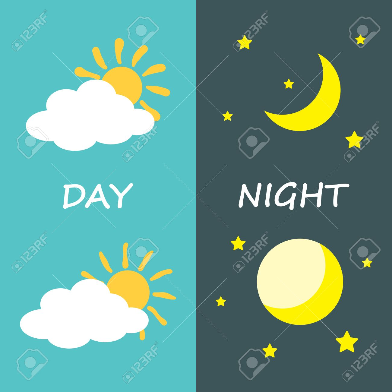 Day and night sun and moon icon symbol design vector illustration day and night sun and moon icon symbol design vector illustration stock biocorpaavc Images