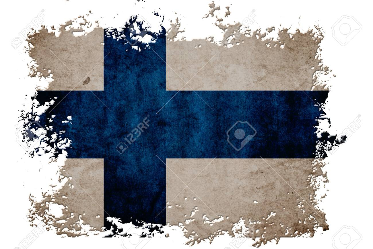 Finland flag on old vintage paper in isolated white background, can be use for background design and vintage related concept. Stock Photo - 12649242