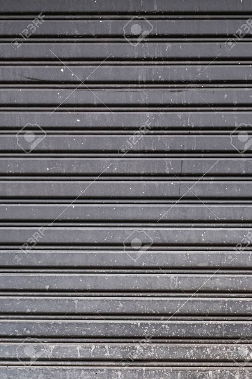 garage door texture. Old Steel Garage Door Stripped Texture, Horizontal Lines Stock Photo - 60143811 Texture