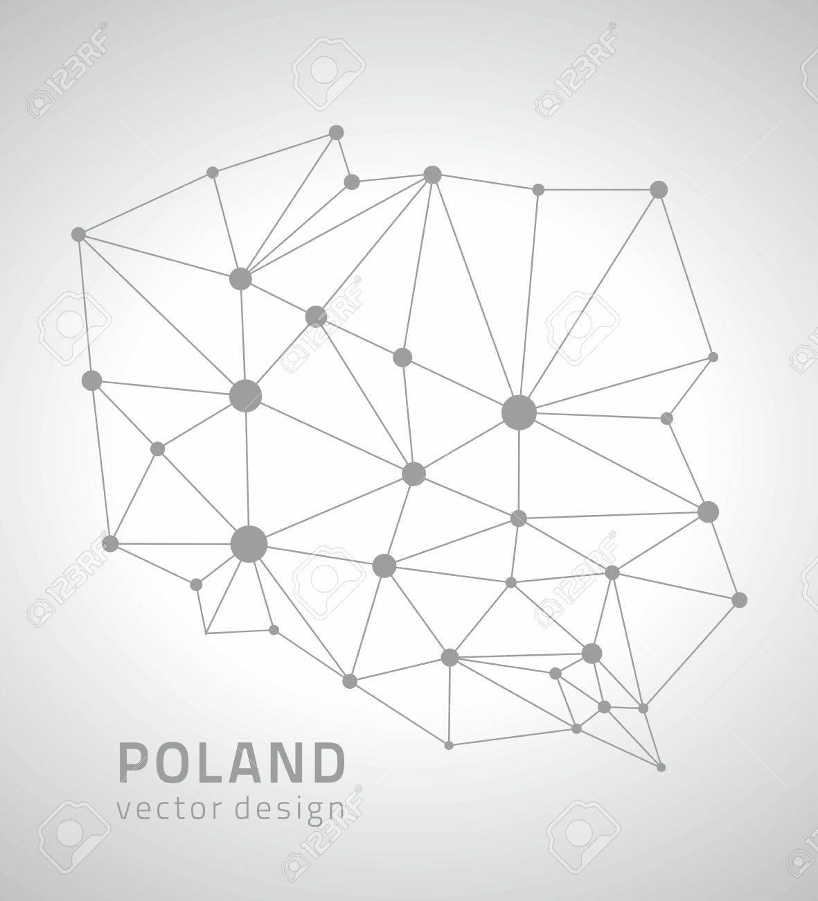 Poland gray contour vector map - 58994979