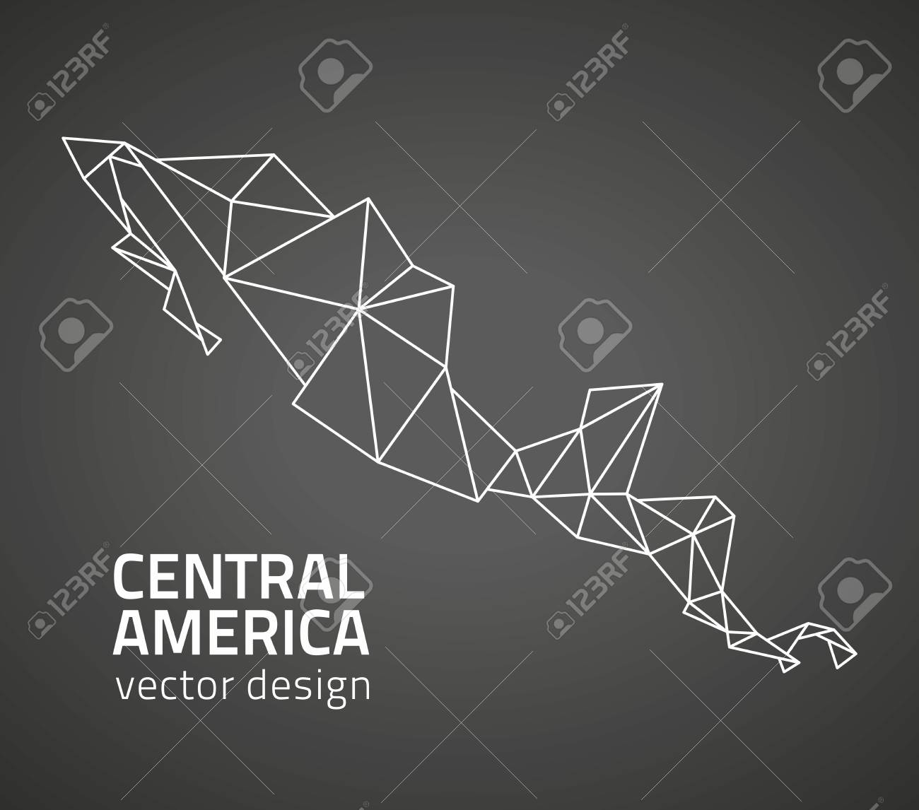 Pyramids In America Map.Central America Black Pyramid Map Royalty Free Cliparts Vectors