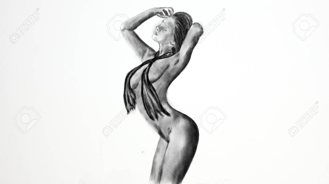 Nude drawing girl