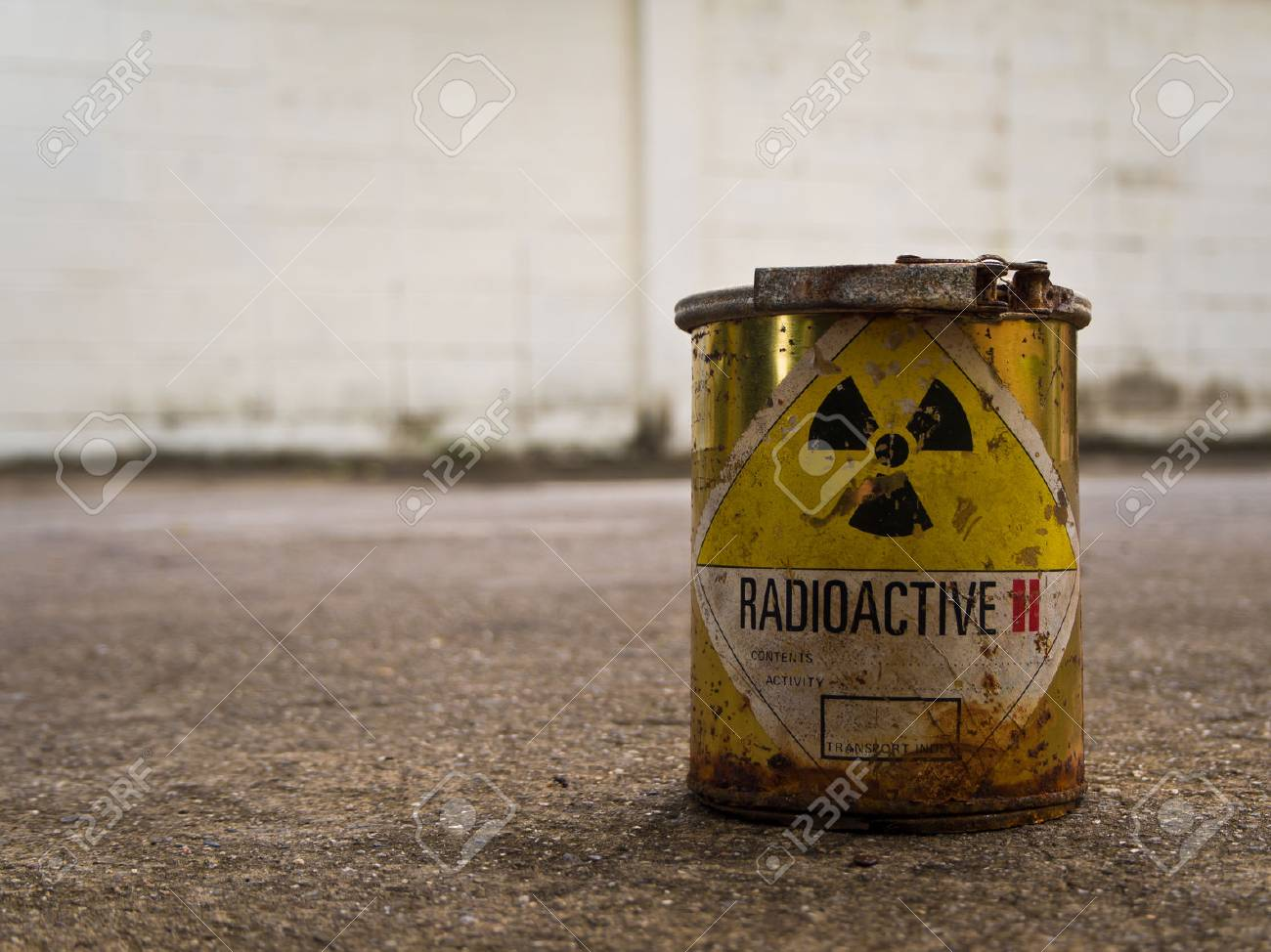 Decay of old Radioative material container - 61729890