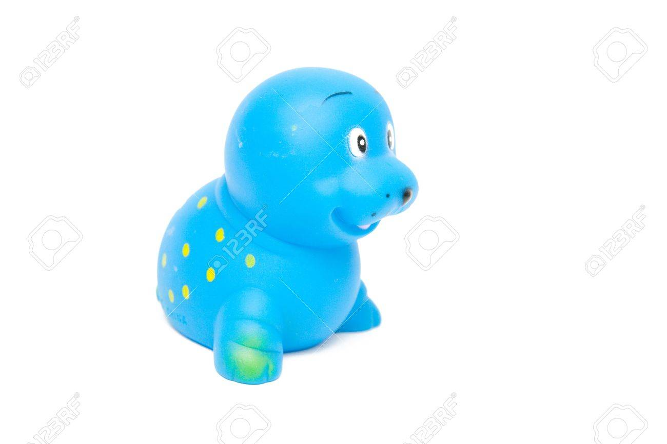 blue seal toy isolated on white Stock Photo - 4194114
