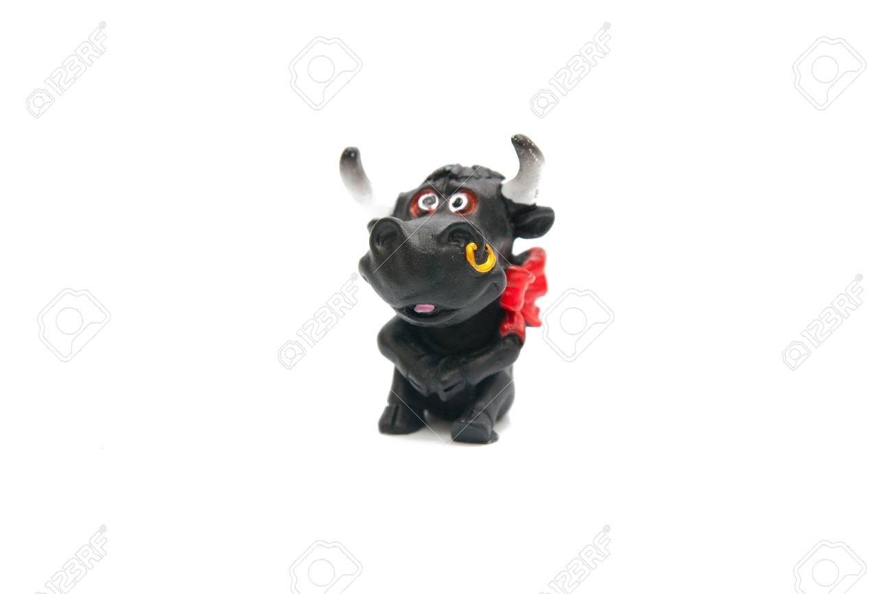 cow statuette isolated on white Stock Photo - 4241934