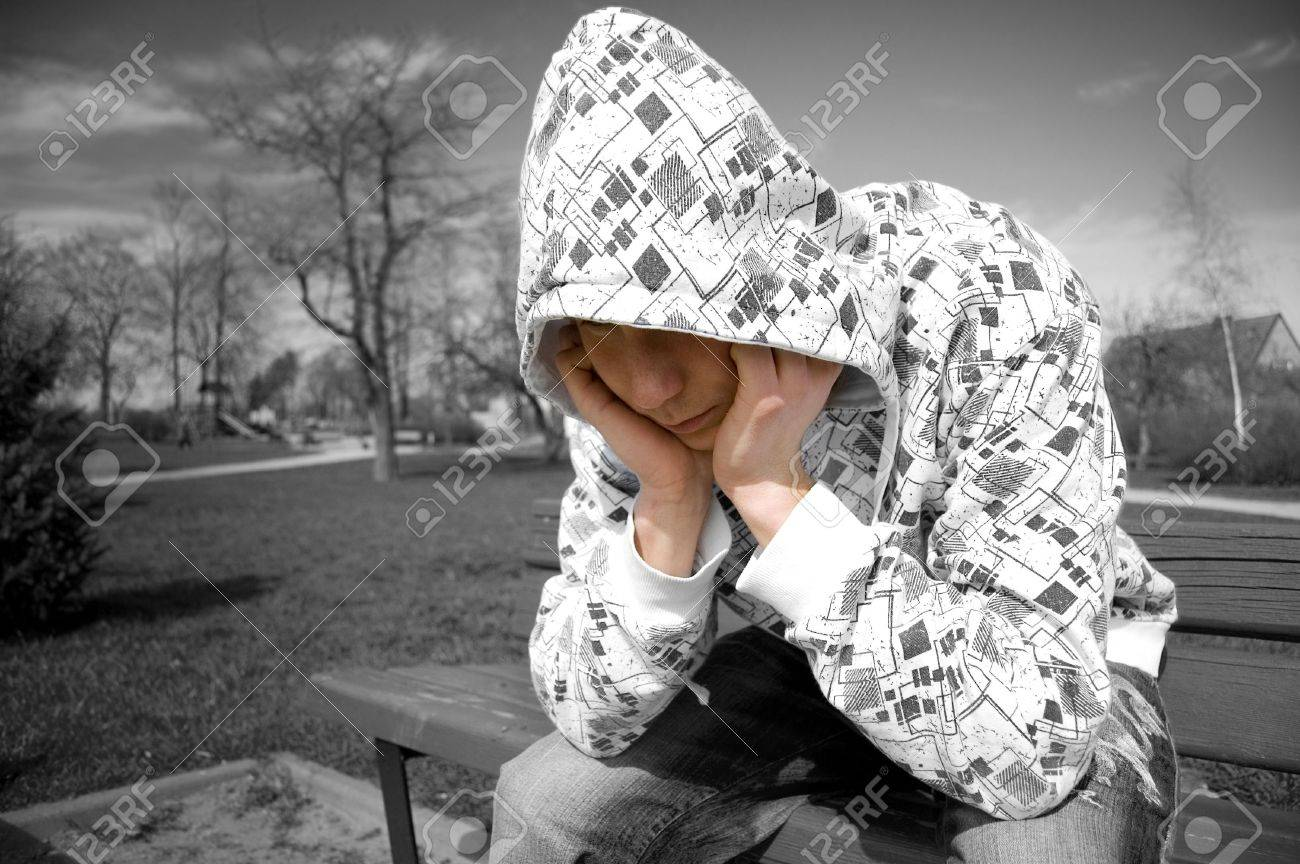 Emotion conceptual image. Depressed teenager. Stock Photo - 7627073