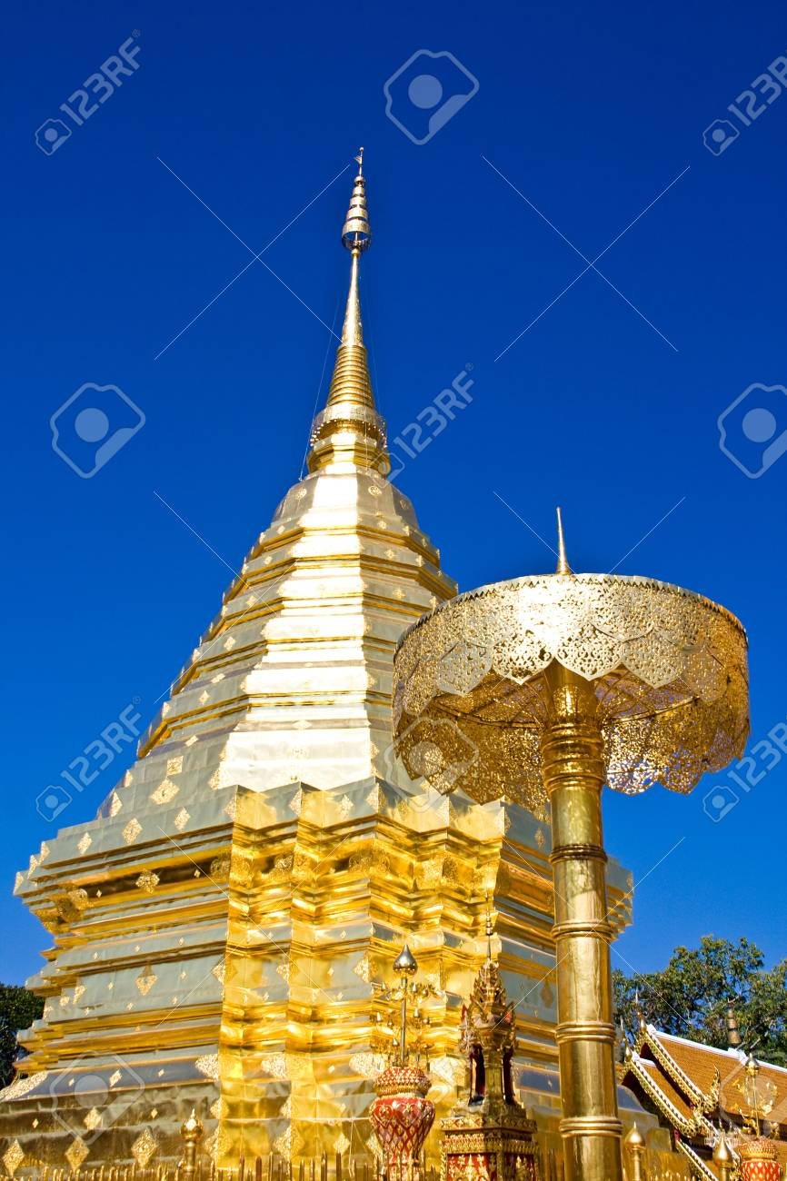 gold pagoda in thailand Stock Photo - 12966179