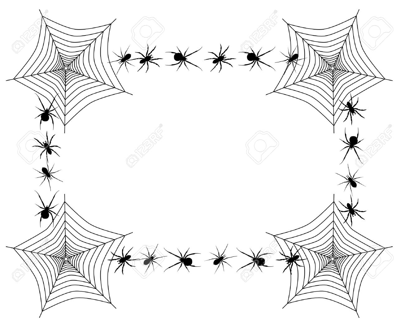 Web Spider Vector Vector Border With Spider Webs