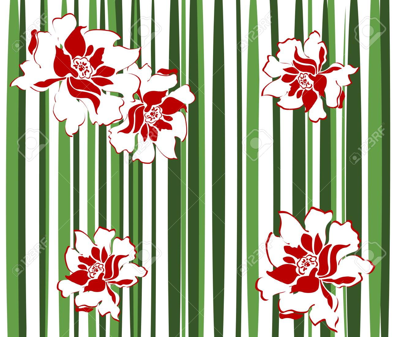 Vector image of floral chinese background Stock Vector - 11083320