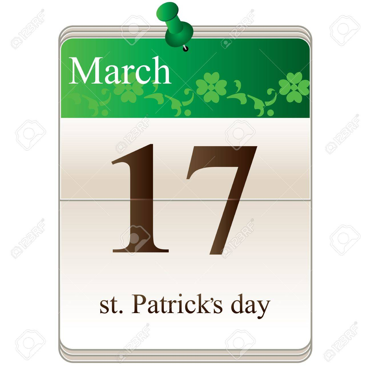 Vector of St Patricks Day Calendar for irish holiday Stock Vector - 17693590