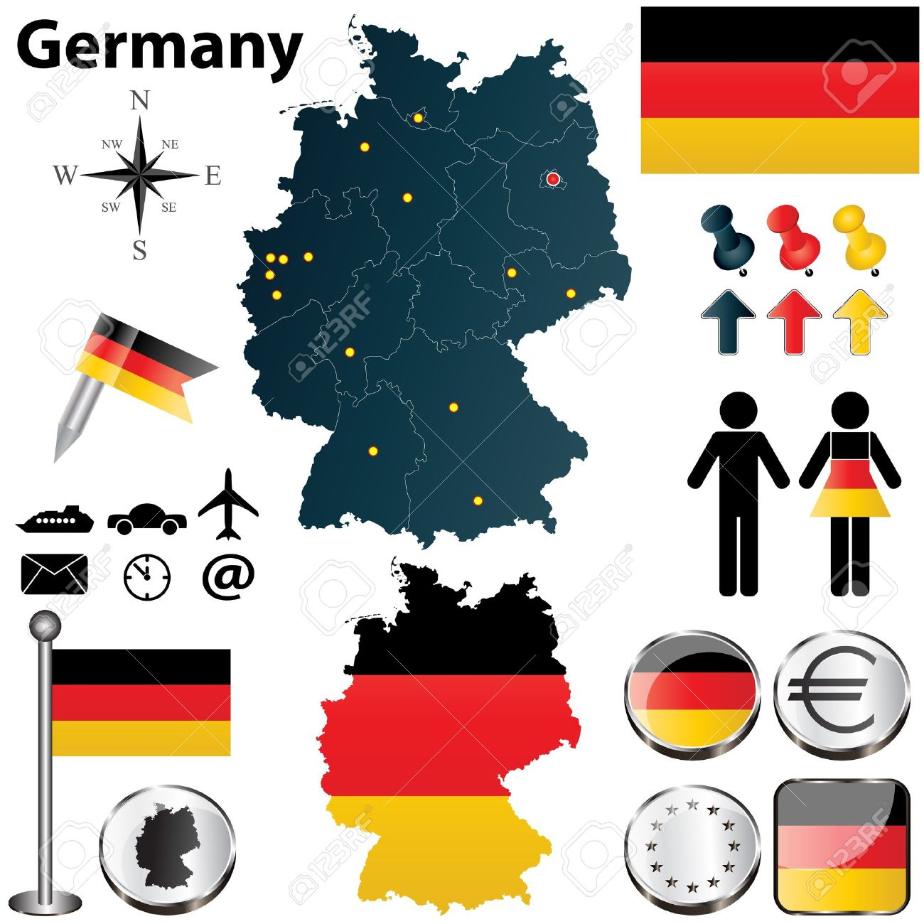 235 germany eagle stock vector illustration and royalty free