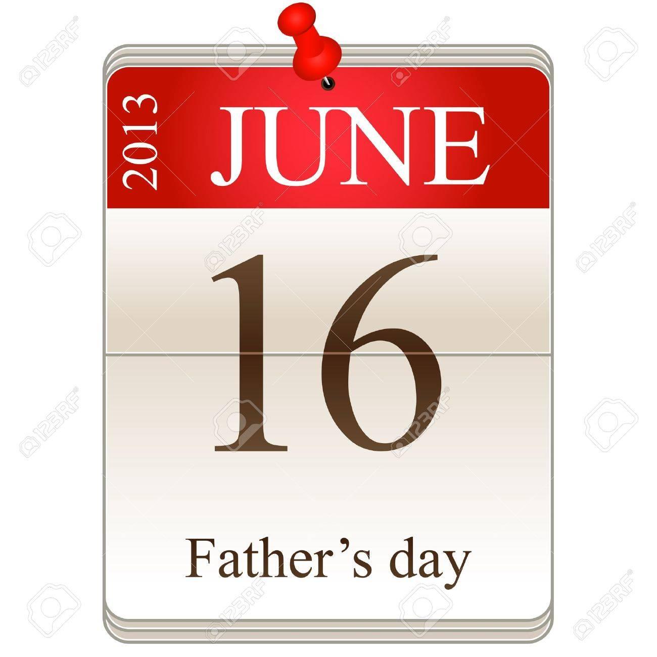 calendar of father Stock Vector - 19605641