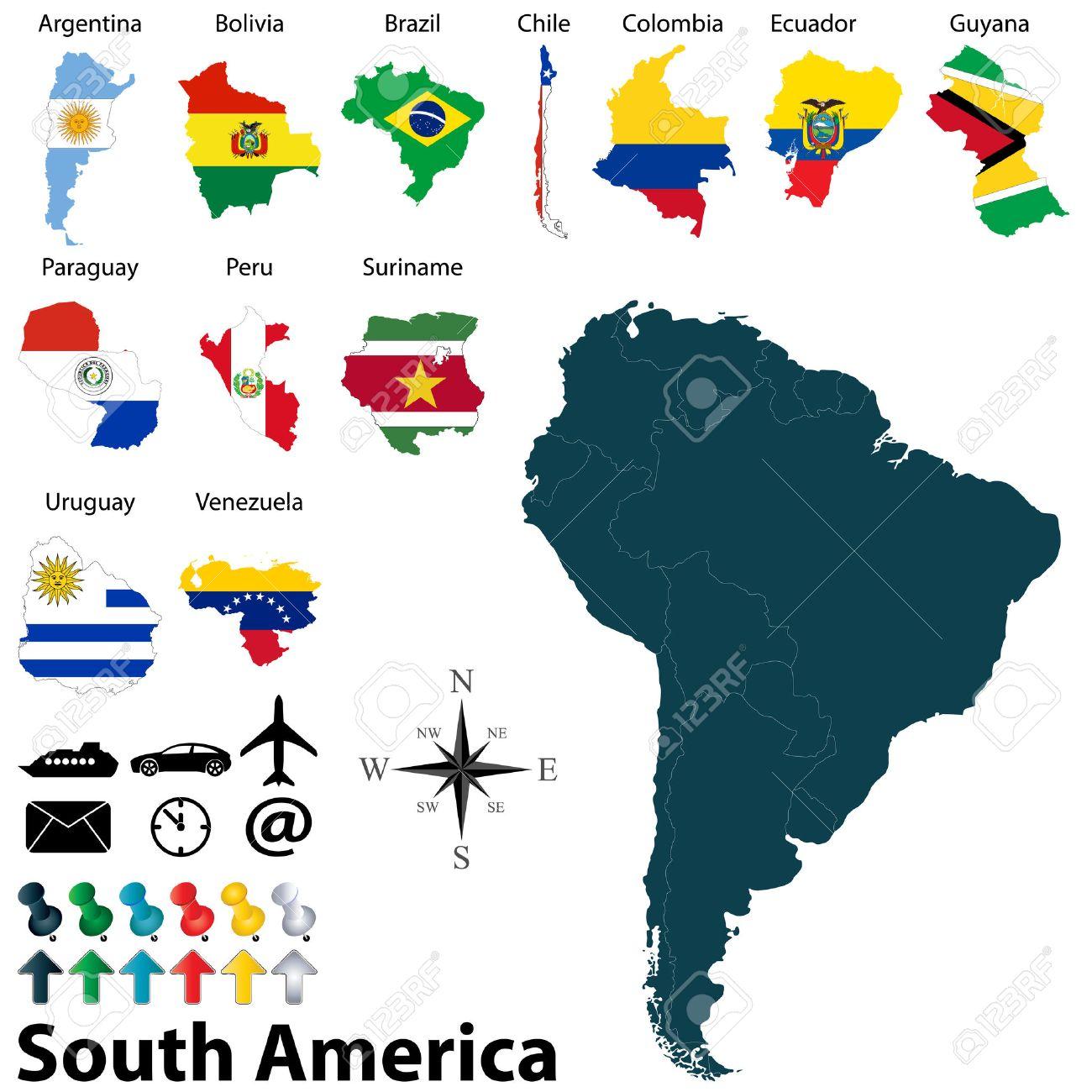 Latin America Map Stock Photos Images Royalty Free Latin America - Map of the latin america