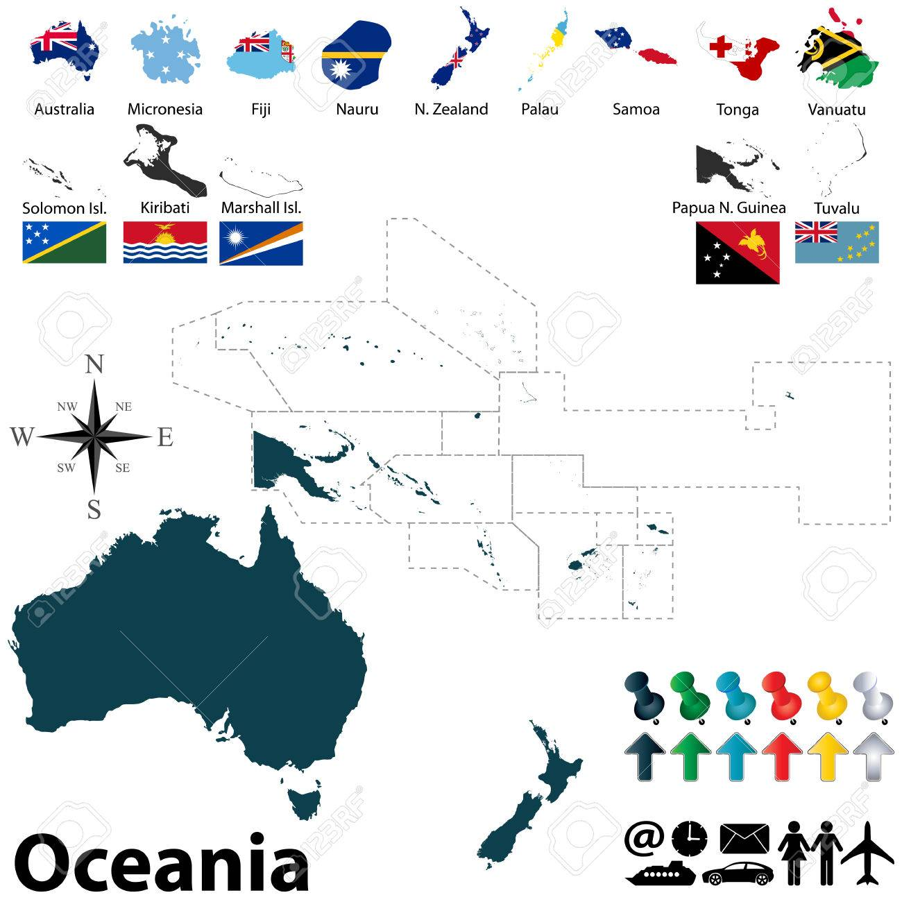 Oceania Flag Map Html Oceania Free Download Images World Maps