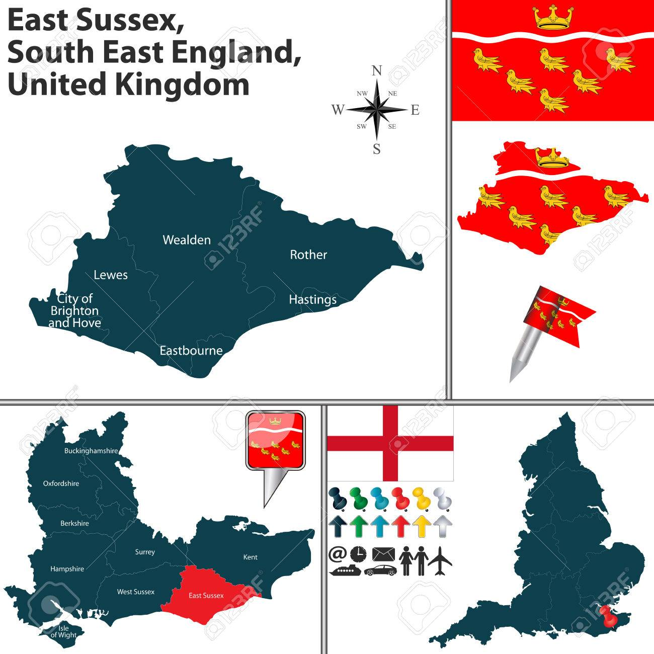 Vector map of East Sus, South East England, United Kingdom.. on hastings england united kingdom, hastings uk map, hastings nz new zealand map, hastings mn on map, hastings nebraska city street map, hastings located on a map,