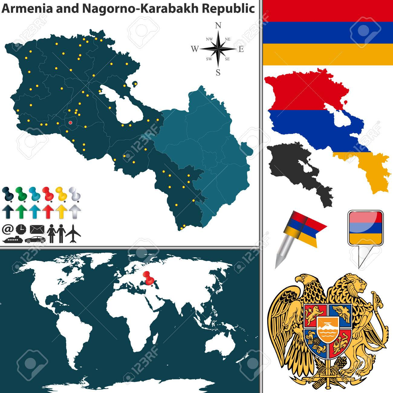 Picture of: Vector Map Of Armenia Nagorno Karabakh Republic With Regions Royalty Free Cliparts Vectors And Stock Illustration Image 44755128