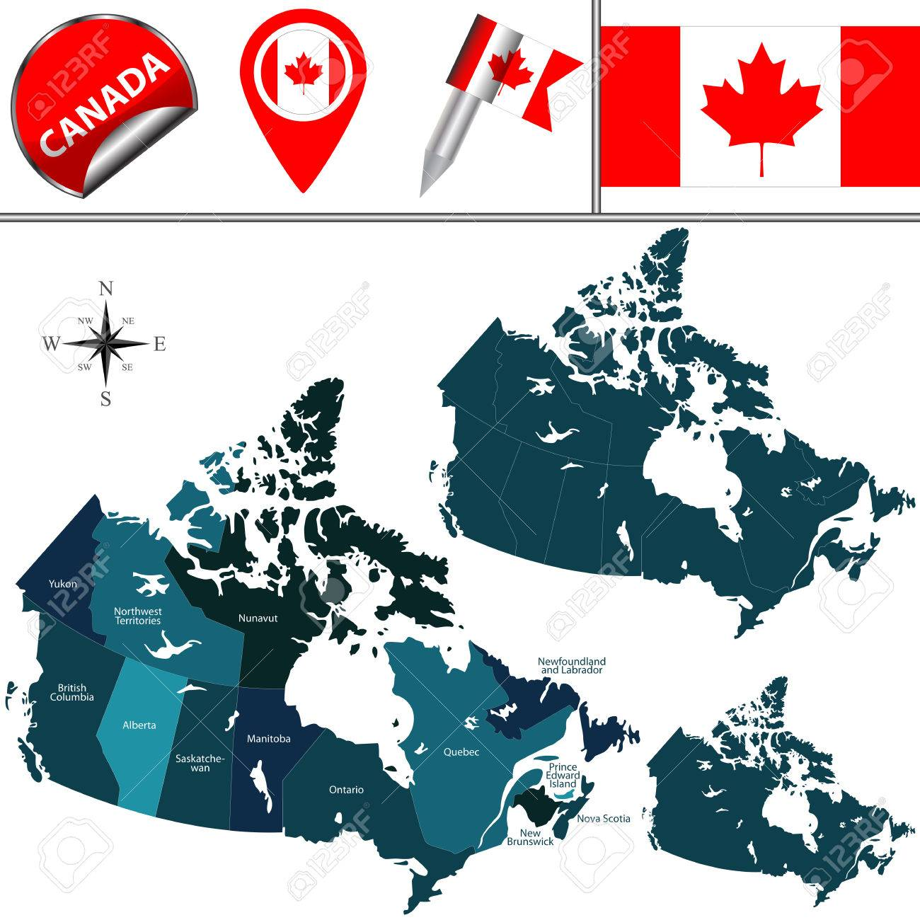 Map Of Canada And Provinces And Territories.Map Of Canada With Named Provinces Territories And Travel Icons