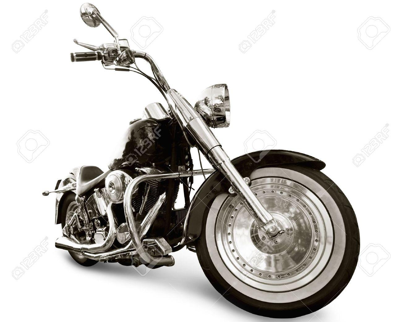 Motorcycle isolated on white background Stock Photo - 6671936