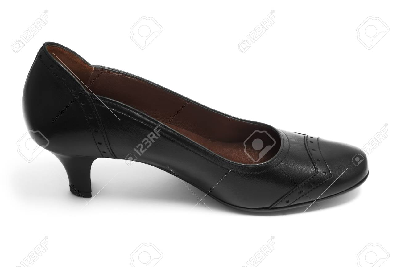 Black shoe isolated on white Stock Photo - 7303023