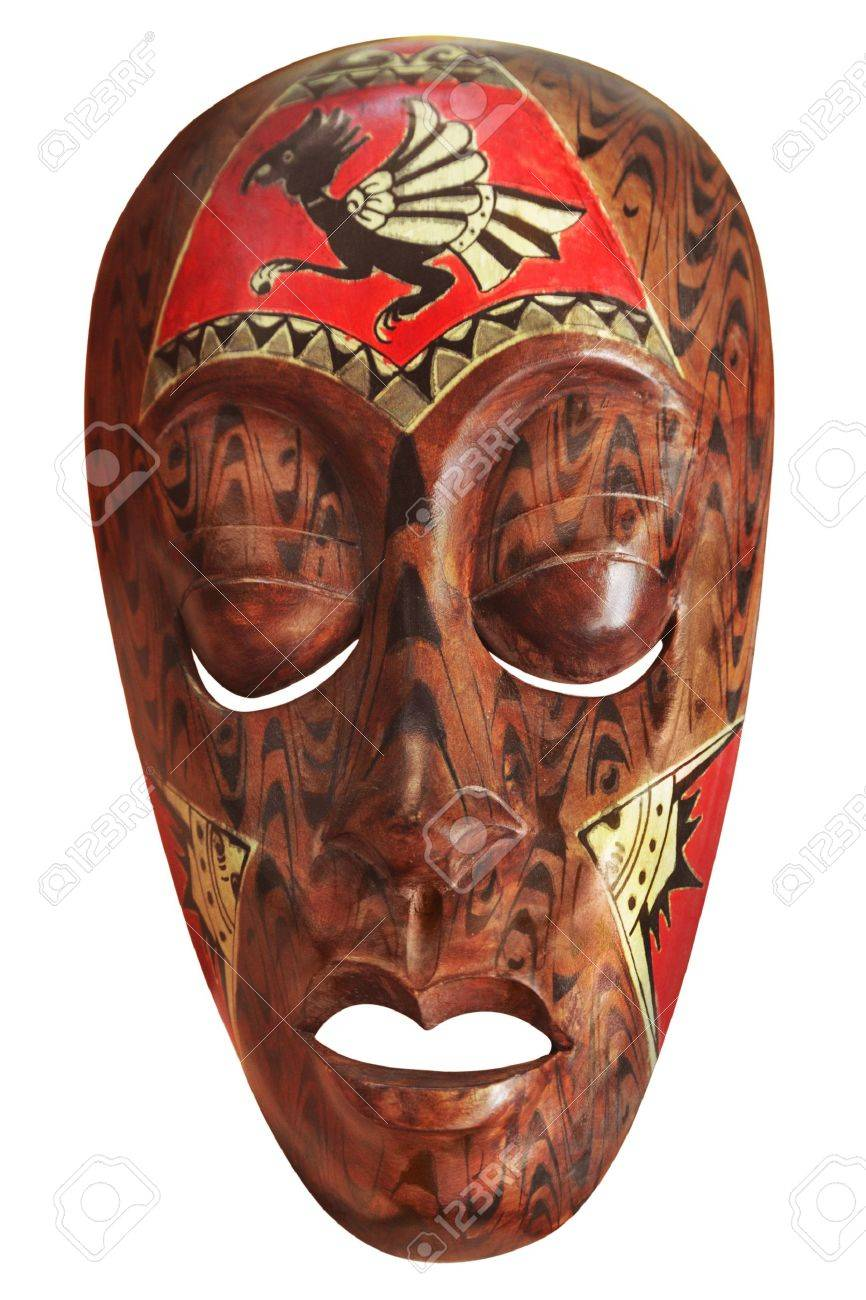 African mask isolated on white Stock Photo - 11263549