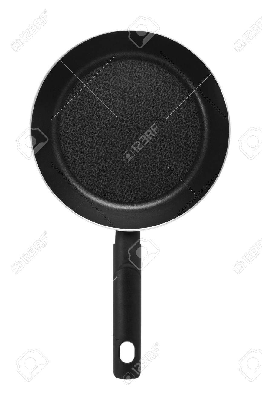 Frying pan isolated on white Stock Photo - 13969066