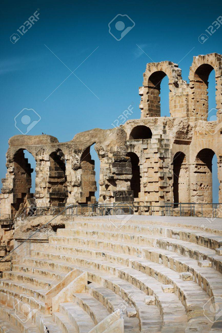 Amphitheater in El Jem, Tunisia Stock Photo - 14025457