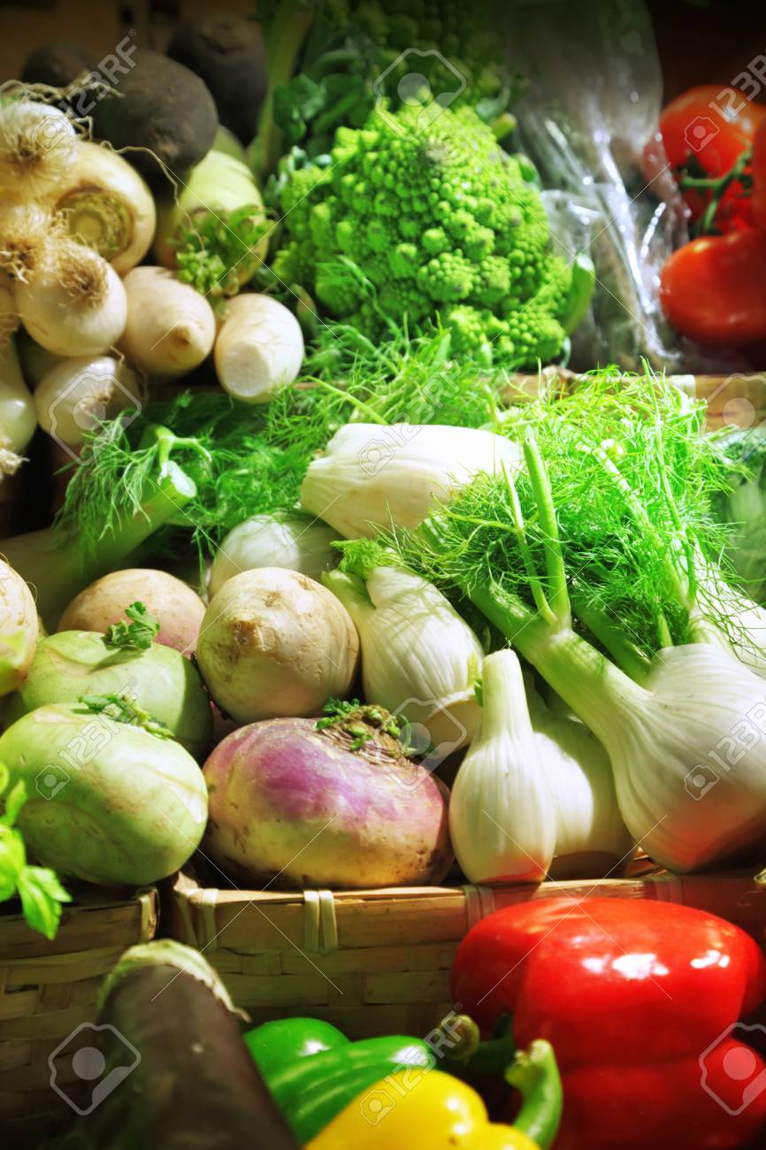 Vegetables at a market stall Stock Photo - 15097948