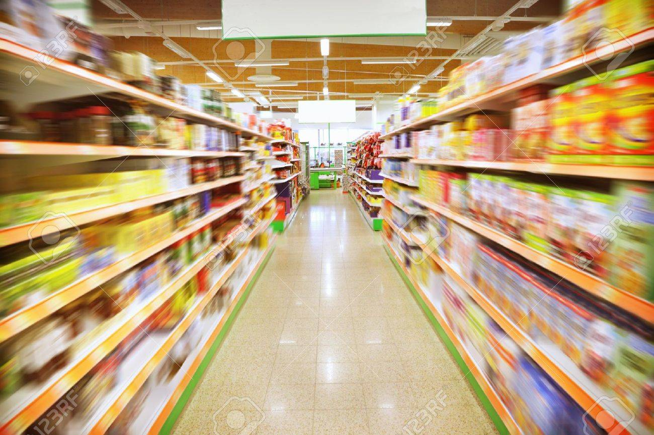 Various products in a supermarket Stock Photo - 15451808