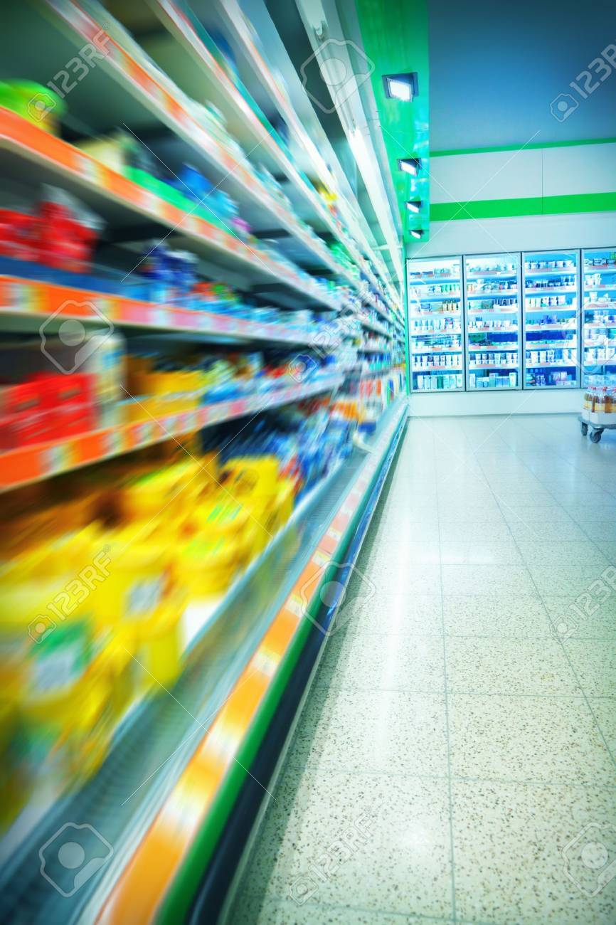 Various products in a supermarket Stock Photo - 15451806