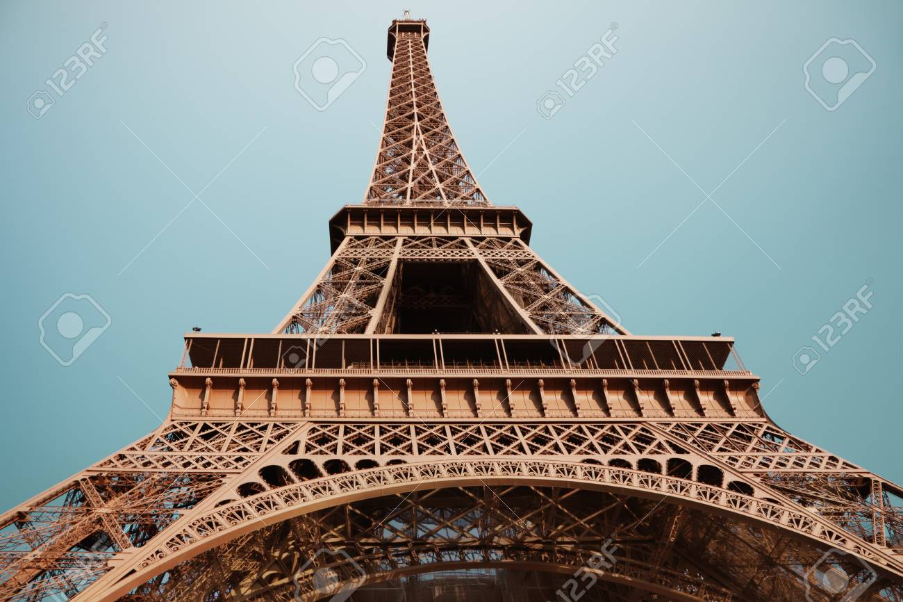 The Eiffel Tower in Paris Stock Photo - 24419426