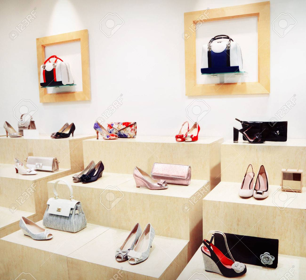 Shop window with bags and shoes - 49104017