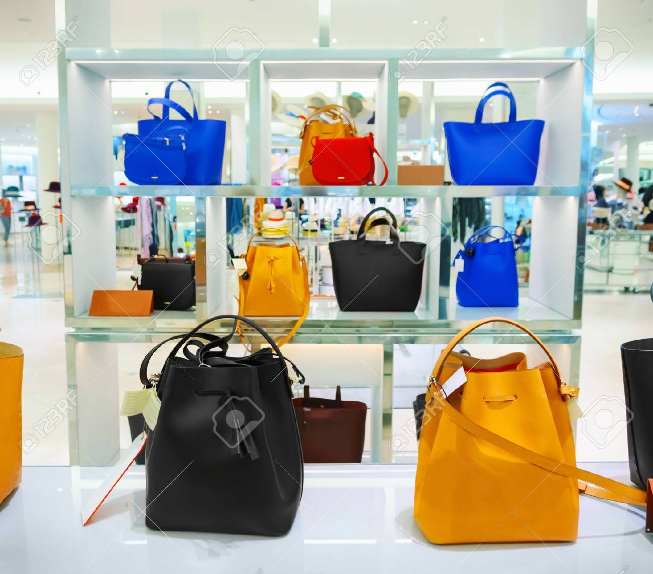 Shop window with bags and shoes - 53480935
