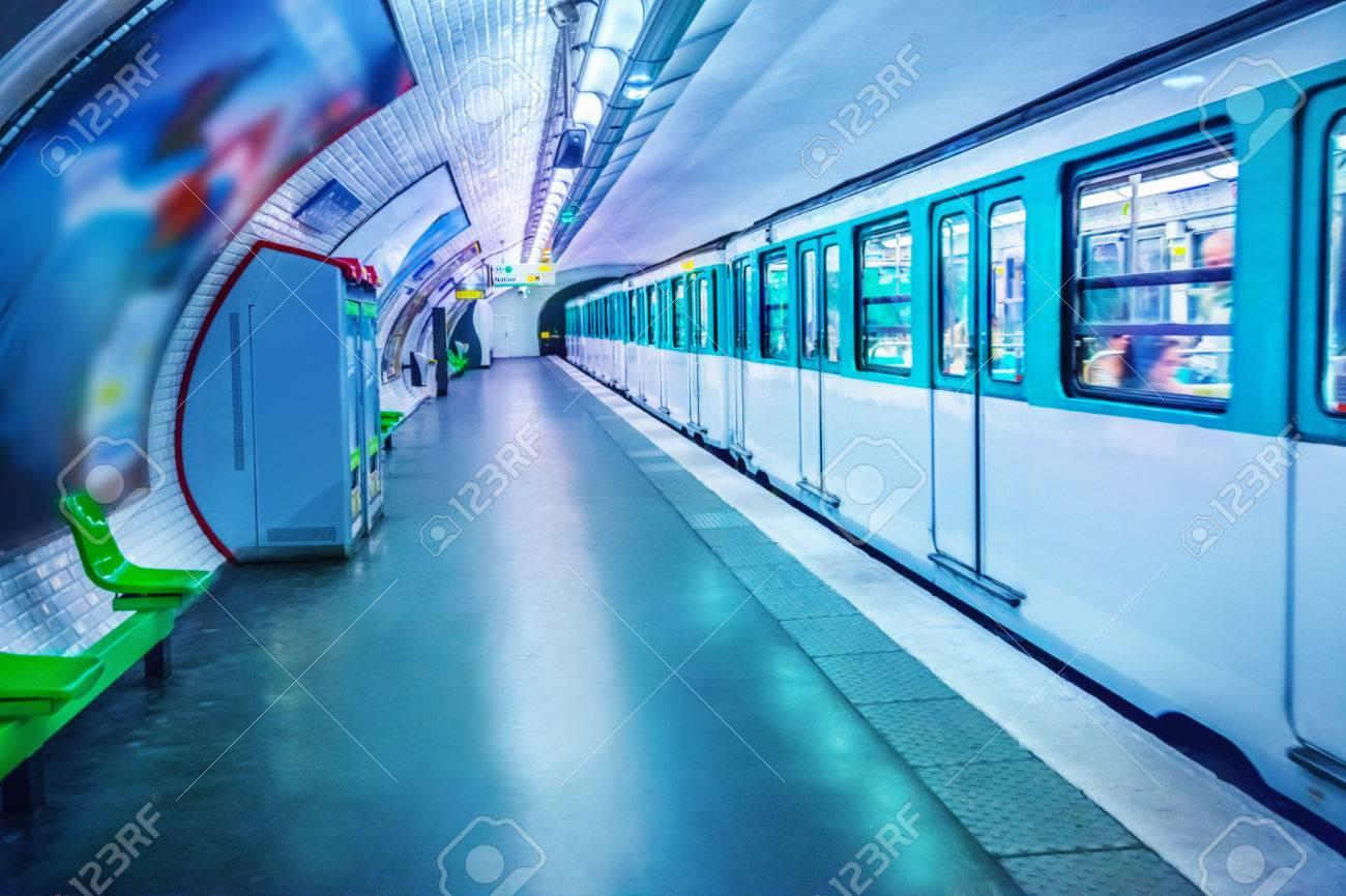 Metro station in Paris - 53478104