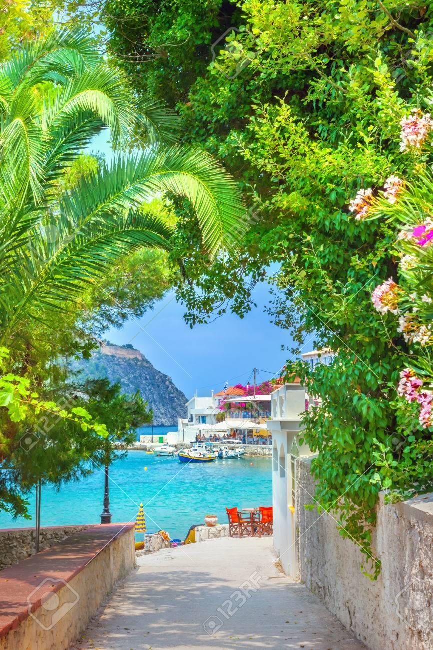 Assos village in Kefalonia, Greece - 60457930
